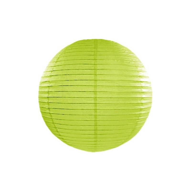 Lanterne en papier vert pomme 20cm