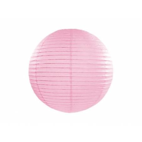 Lanterne en papier 25 cm rose