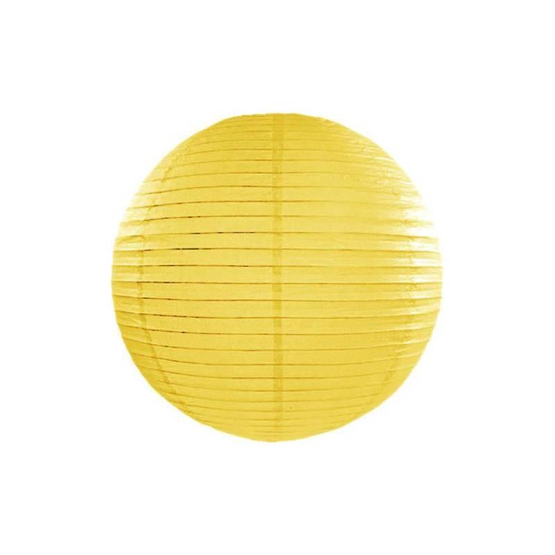 Lanterne en papier jaune 25cm