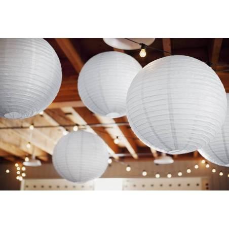 Lanterne en papier blanche 35cm