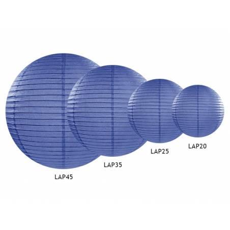 Lanterne en papier bleu royal 35cm