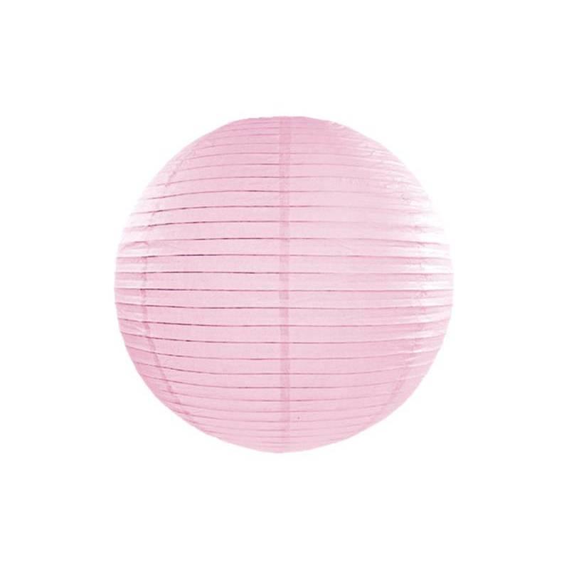Lanterne en papier rose clair 35cm