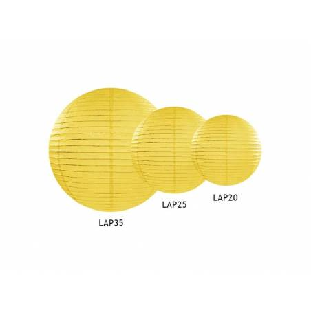 Lanterne en papier jaune 35cm