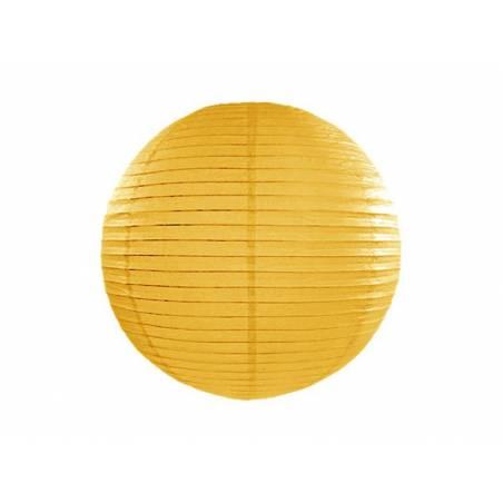 Lanterne en papier jaune foncé 35cm