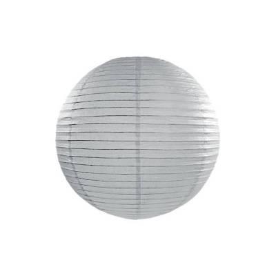 Lanterne en papier grise 35cm