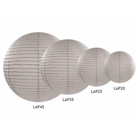 Lanterne en papier gris poudre 35cm