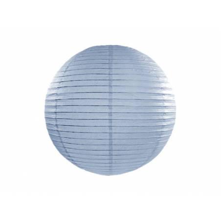 Lanterne en papier bleu clair 35cm
