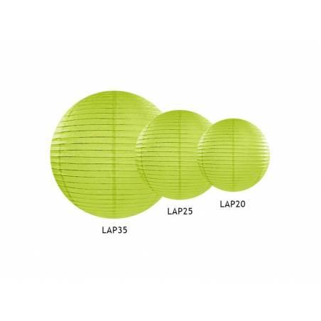 Lanterne en papier pomme verte 35cm