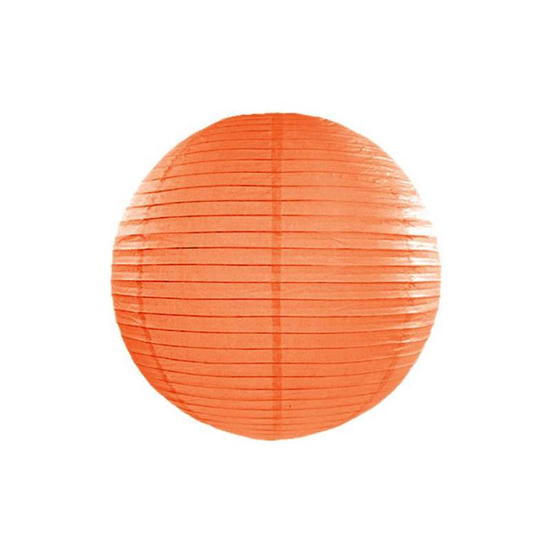 Lanterne en papier orange 45cm