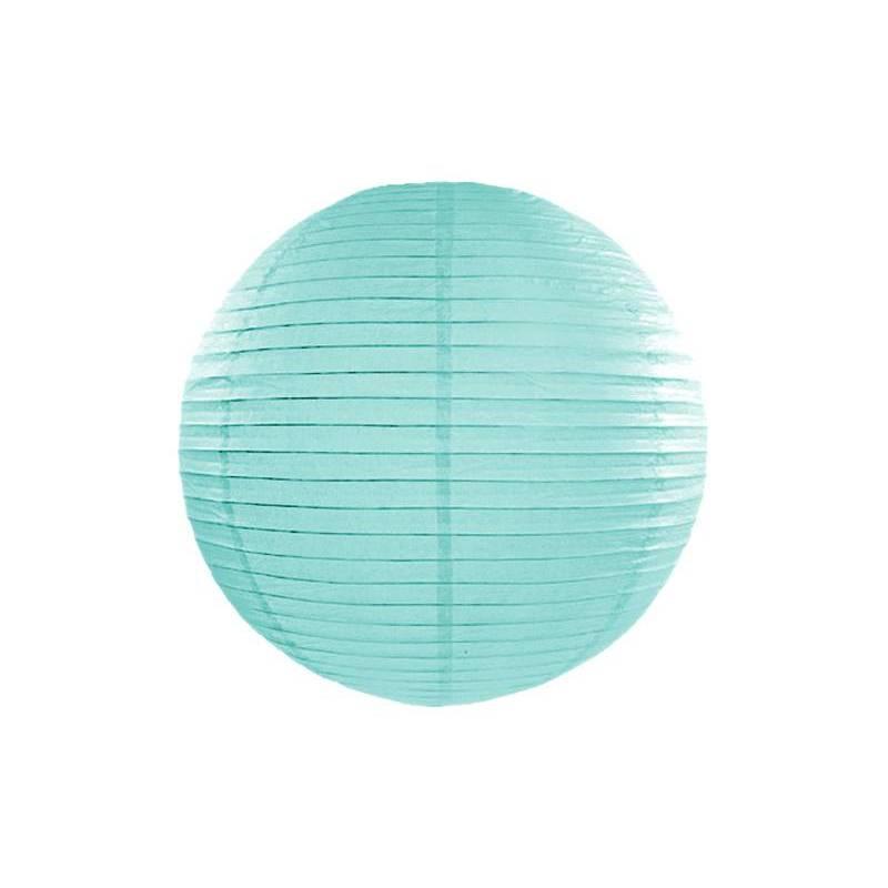 Lanterne en papier bleu tiffany 45cm