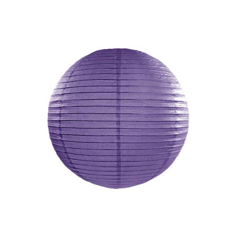 Lanterne en papier violette 45cm