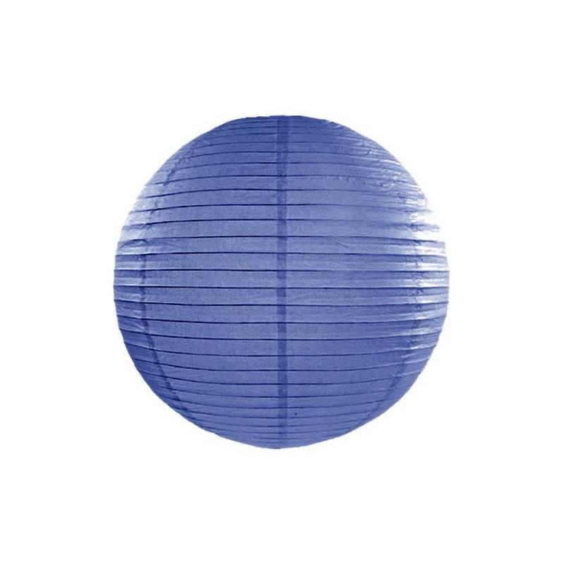Lanterne en papier bleu royal 45cm