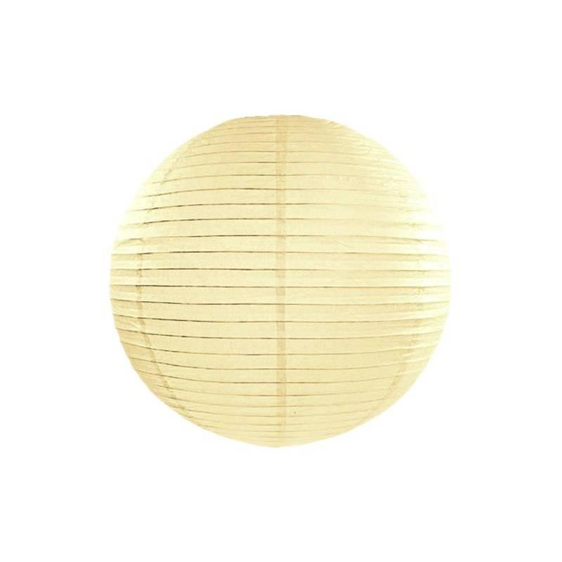 Lanterne en papier crème 55cm