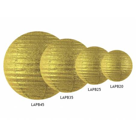Lanterne scintillante or 25cm