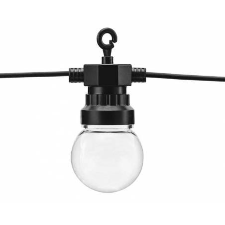 Guirlandes à LED noires 5m ne contient pas de prise britannique
