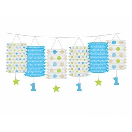 Guirlande de lanternes 1er anniversaire mélange 3.60m