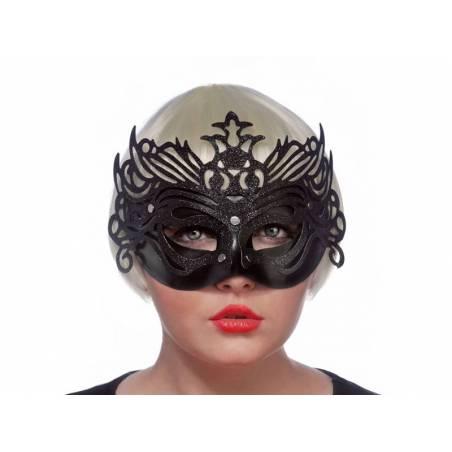 Masque de fête avec ornement noir