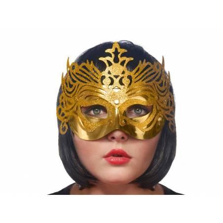 Masque de fête avec ornement or