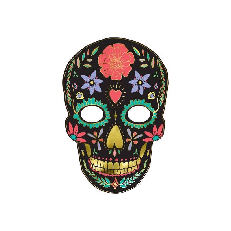 Masque Dia de Los Muertos noir 19x28cm