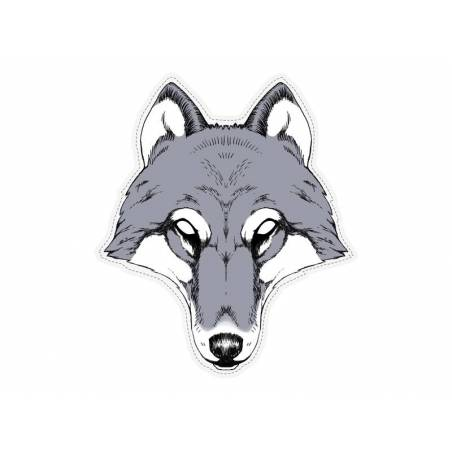 Masque de loup 28 x 32cm