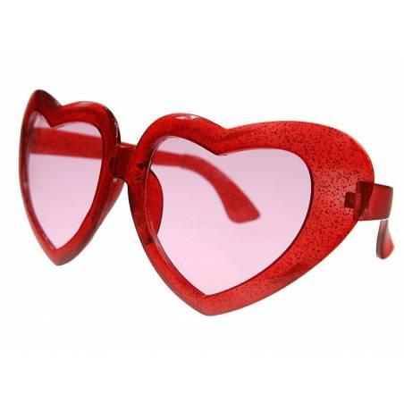 Lunettes Mega hearts rouge