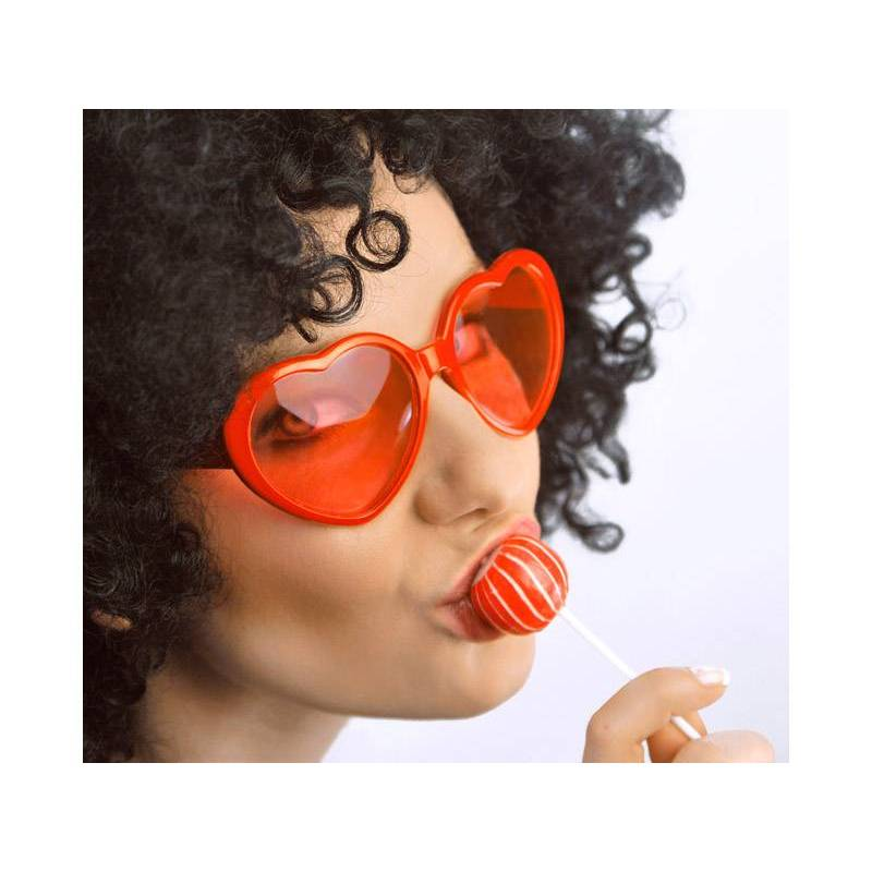 Lunettes Coeurs rouge