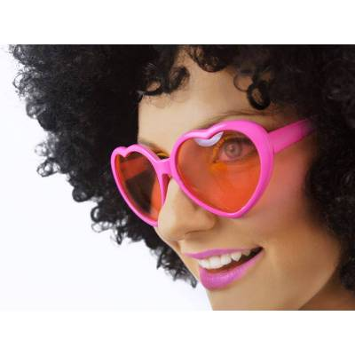 Lunettes Coeurs rose