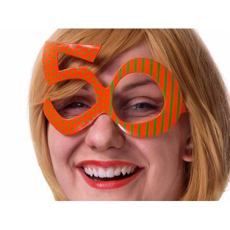Lunettes 50 orange