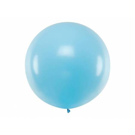 Ballon rond 1m bleu clair pastel