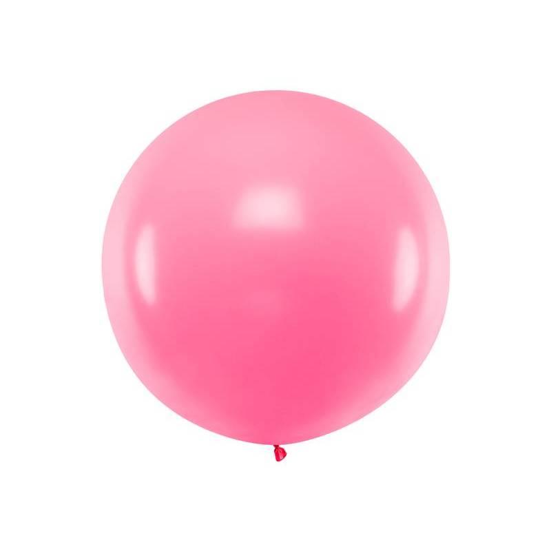 Ballon rond 1m rose pastel
