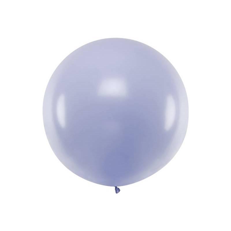 Ballon rond 1m lilas clair pastel