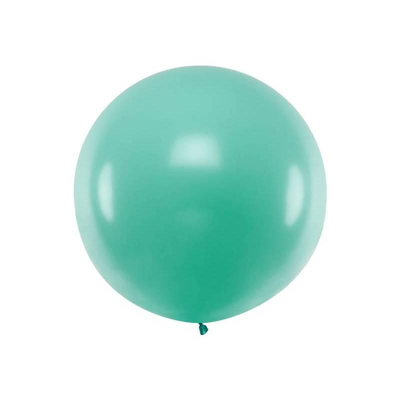 Ballon rond 1m vert forêt pastel