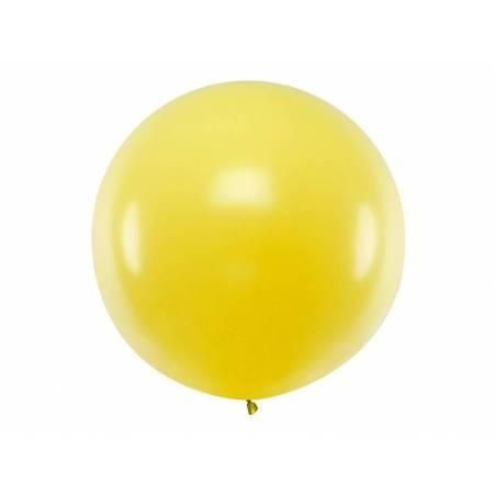 Ballon rond 1m jaune pastel