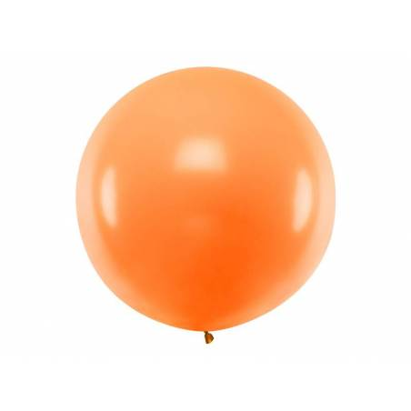 Ballon rond 1m orange pastel