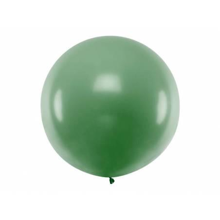 Ballon rond 1m vert foncé pastel