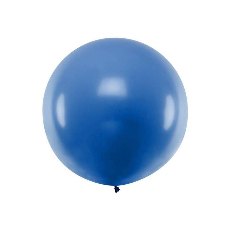 Ballon rond 1m bleu pastel