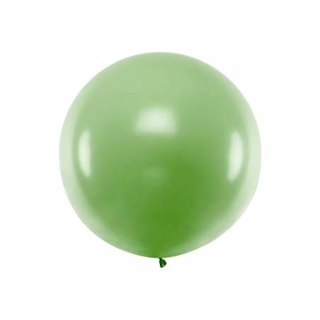 Ballon rond 1m vert pastel
