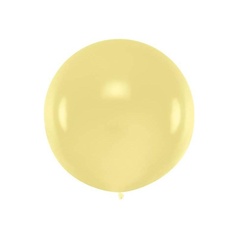 Ballon rond 1m crème pastel