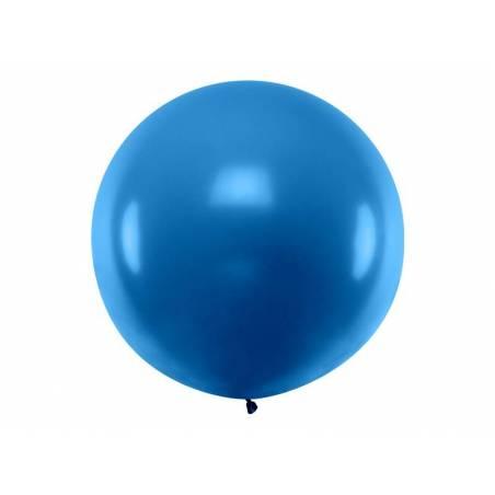 Ballon rond 1m bleu marine pastel