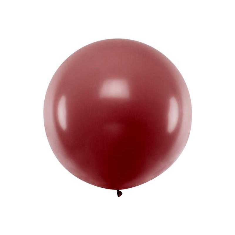 Ballon rond 1m Bourgogne pastel
