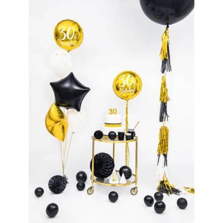 Ballon rond 1m noir pastel