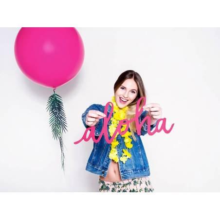 Ballon rond 1m Pastel Fuchsia