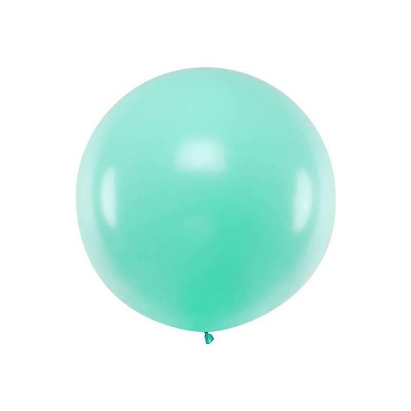 Ballon rond 1m menthe légère pastel