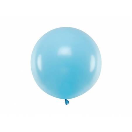 Ballon Rond 60cm Bleu Clair Pastel