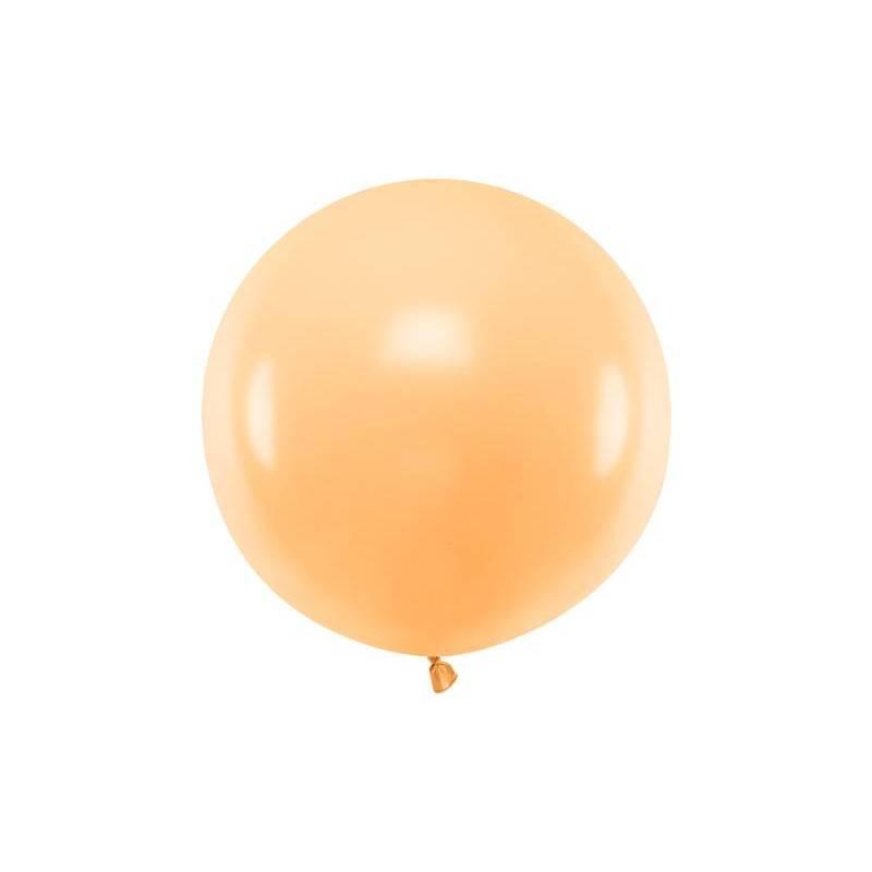 Ballon Rond 60cm Pêche Légère Pastel