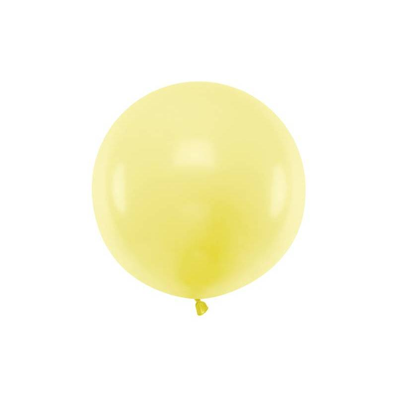 Ballon rond 60cm jaune clair pastel