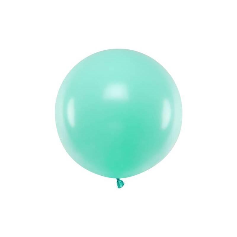 Ballon rond 60cm menthe légère pastel