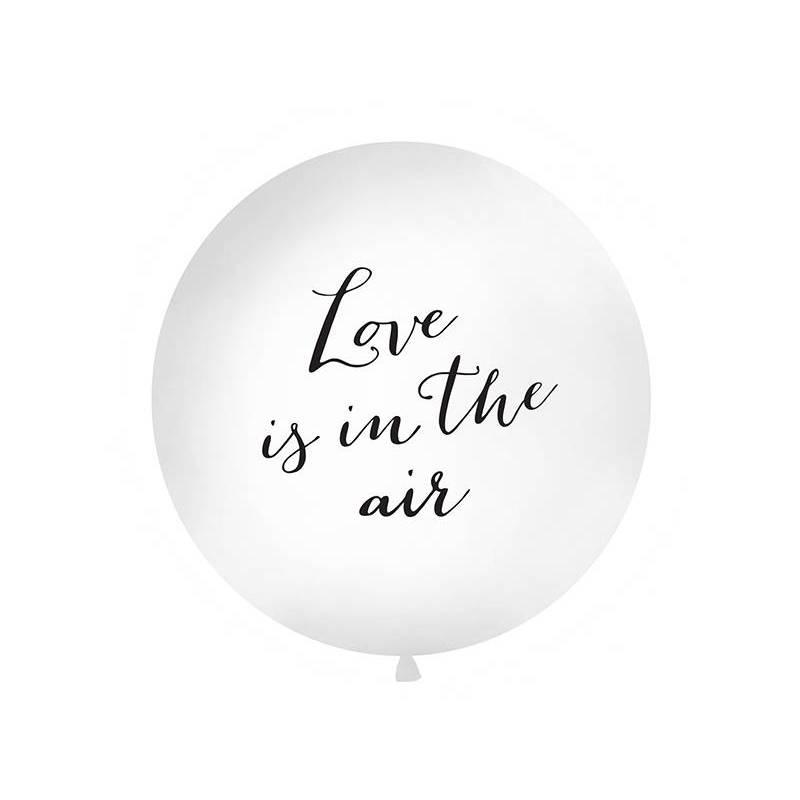 Ballon géant 1 m l'amour est dans l'air blanc