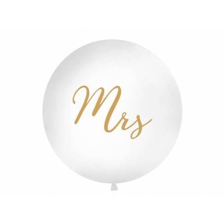 Ballon géant 1 m Mme blanc