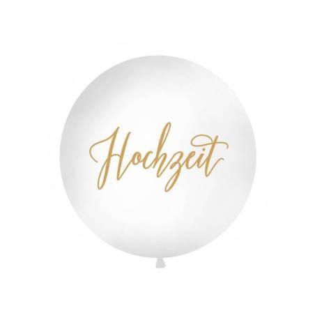 Ballon géant 1 m Hochzeit blanc